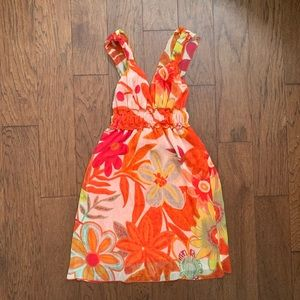 Fire Los Angeles crinkle georgette Dress
